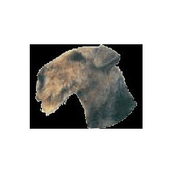 Airedale Terrier sticker 7cm