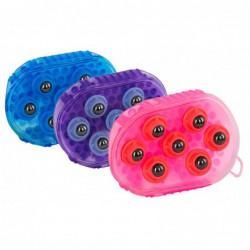 Borstel magneet massage paars
