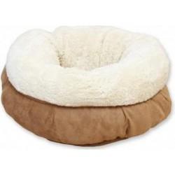 AFP lambswool donut bed beige