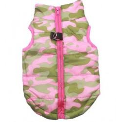 Winterjasje camouflage roze...