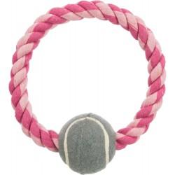 Flos ring met tennisbal 18cm