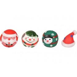 Kerstspeelgoed bal vinyl 8cm